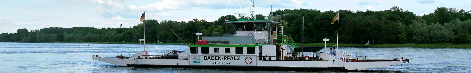 Rheinfähren in Leimersheim und Neuburg